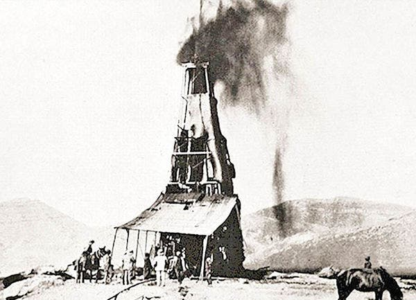 أول بئر للنفط في الشرق الأوسط في مسجد سليمان شرق الأهواز