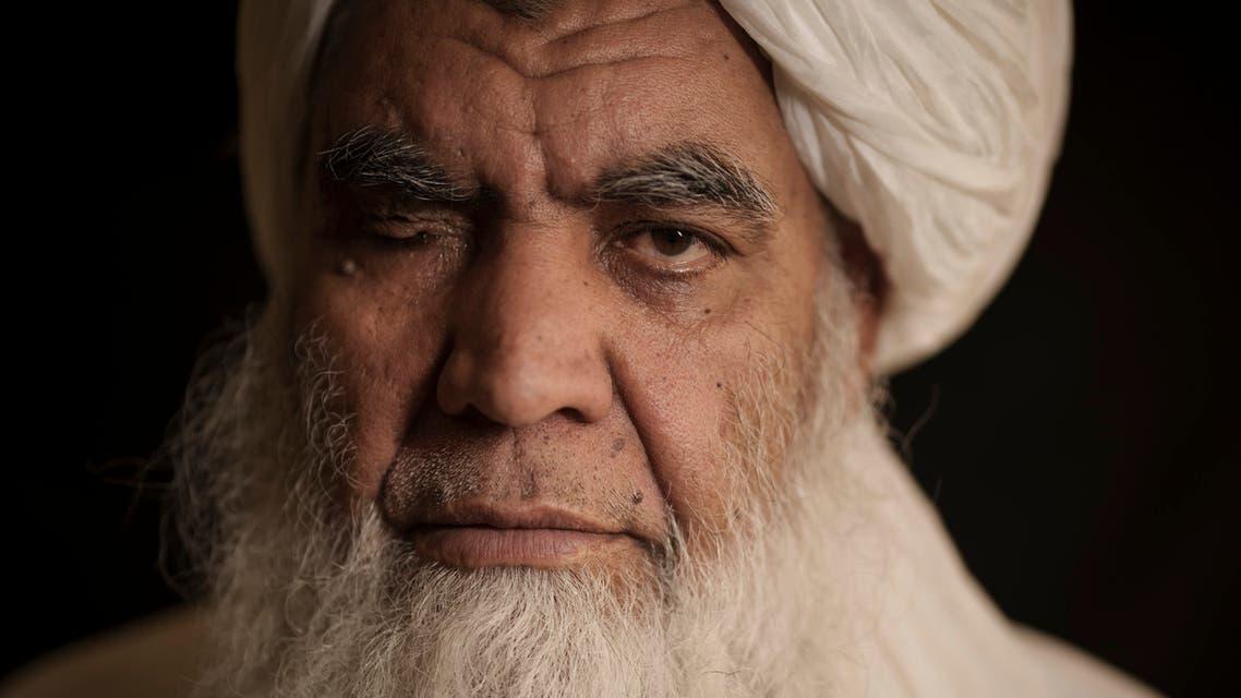 Taliban leader Mullah Nooruddin Turabi poses for a photo in Kabul, Afghanistan, Wednesday, Sept. 22, 2021. (AP)