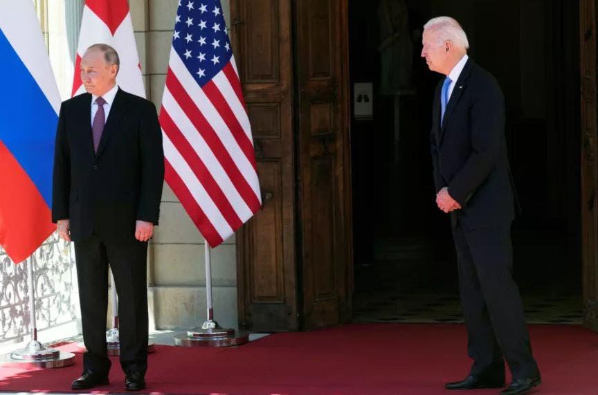 امریکی صدر جوبائیڈن اور روس کے صدر ولادی میر پوتین