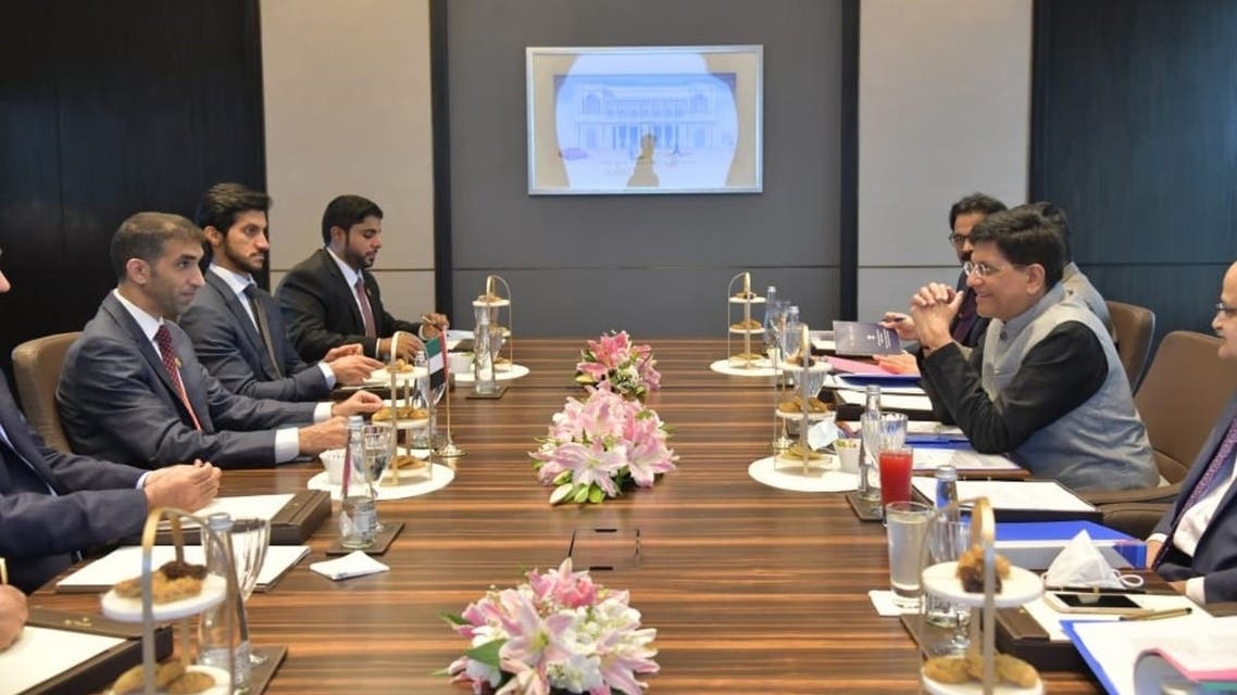 Dr. Thani bin Ahmed Al Zeyoudi, UAE Minister of State for Foreign Trade, and Piyush Goyal, India's Minister of Commerce and Industry, jointly established the India – United Arab Emirates Comprehensive Economic Partnership Agreement (CEPA). (WAM)