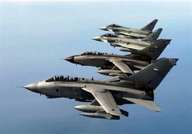 یمن کی فضاوں میں عرب اتحادی فوج کے طیارے