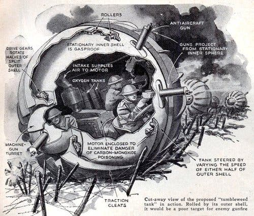 رسم لنسخة مطورة من دبابة كوجل بانزر