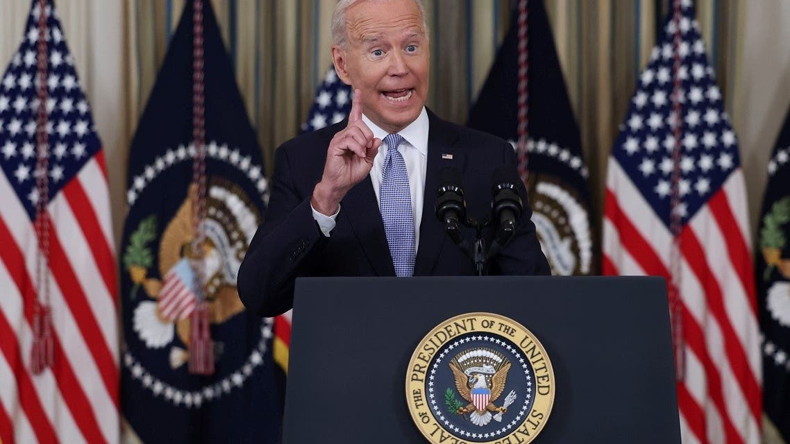 President Joe Biden answers questions from the news media at the White House, Sept. 24, 2021. (Reuters)