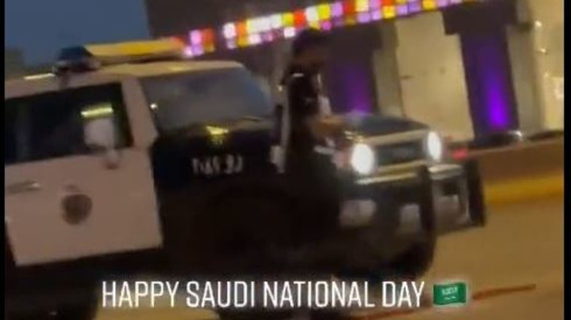 Saudi Police man offering Prayer