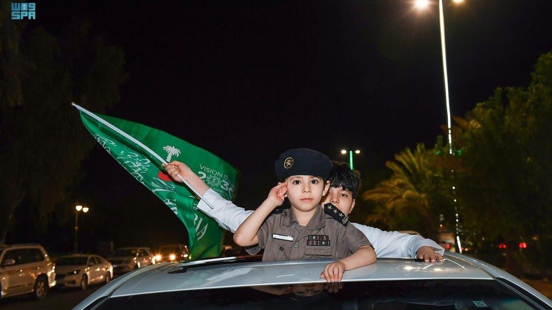 مظاهر احتفال اليوم الوطني السعودي 91....