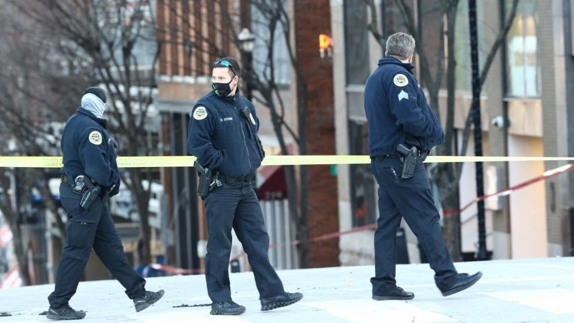 Police close off an area damaged by an explosion on Christmas morning on December 25, 2020 in Nashville, Tennessee. (File photo: AFP)
