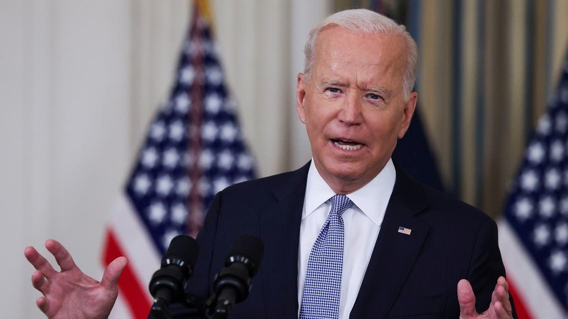President Biden responds to a question from a reporter after speaking about coronavirus disease vaccines and booster shots in the State Dining Room at the White House in Washington, US, September 24, 2021. (Reuters/Evelyn Hockstein)