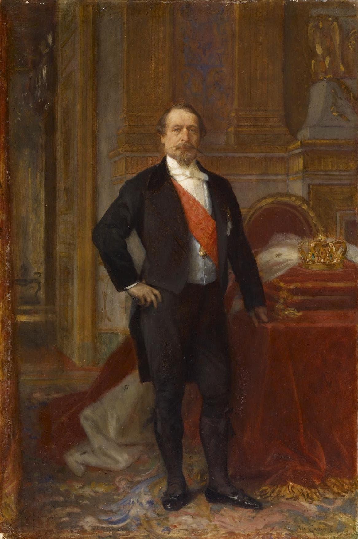 صورة للإمبراطور الفرنسي نابليون الثالث