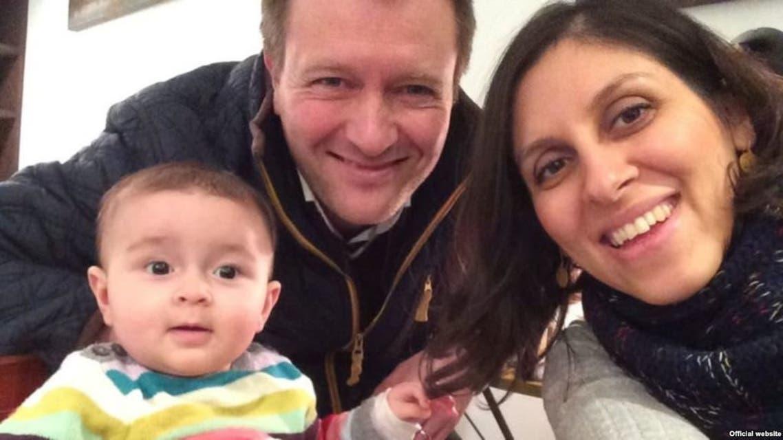 نازنين وريتشارد وابنتهما قبل أكثر من خمسة اعوام