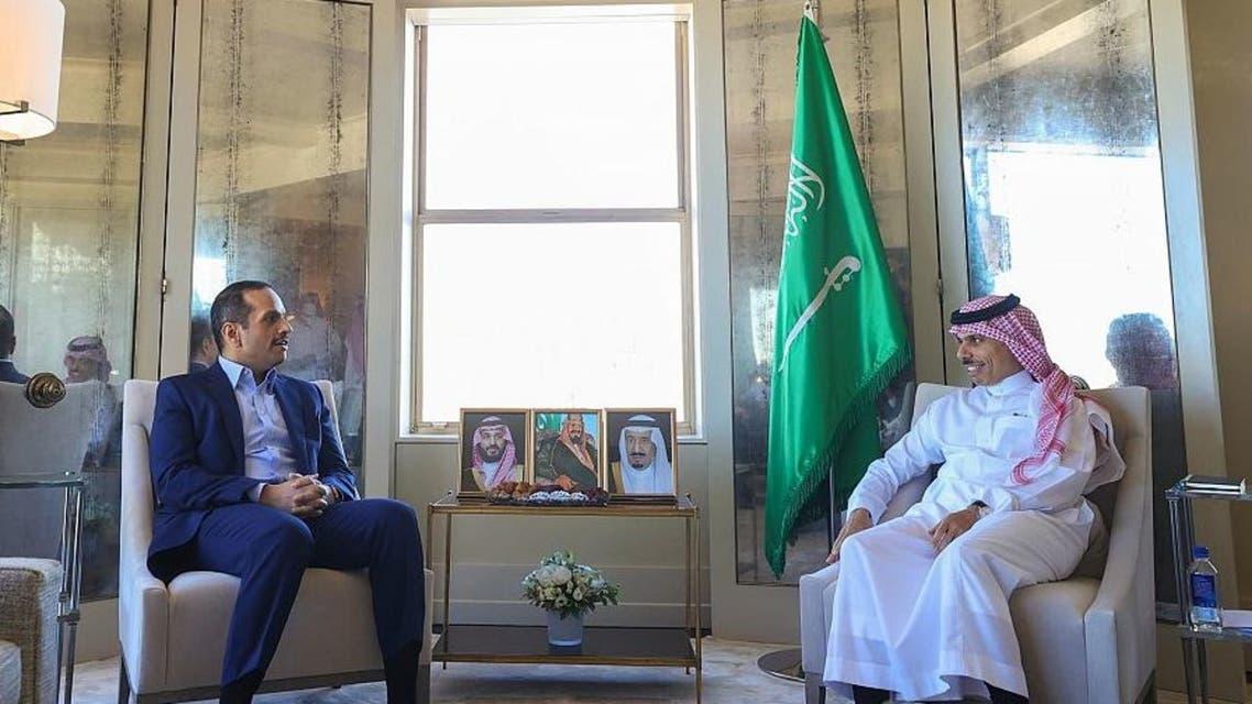 وزير الخارجية السعودي ونظيره القطري