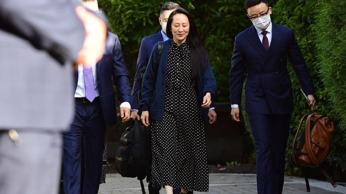 Huawei Chief Financial officer Meng Wanzhou leaves her Vancouver home to attend her extradition hearing, Sept. 24, 2021. (AFP)
