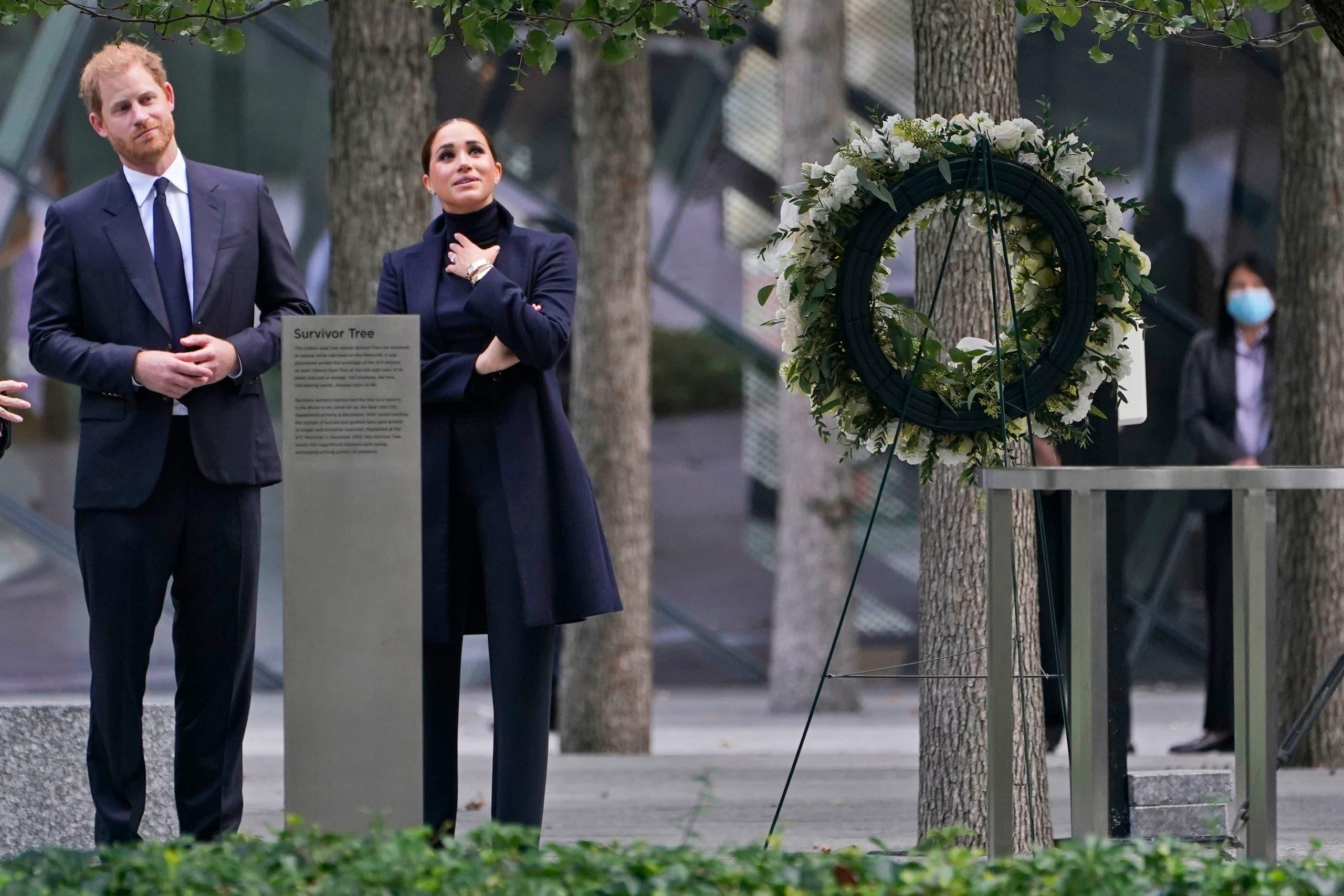 خلال زياترتهما النصب التذكاري لحوادث 11 سبتمبر