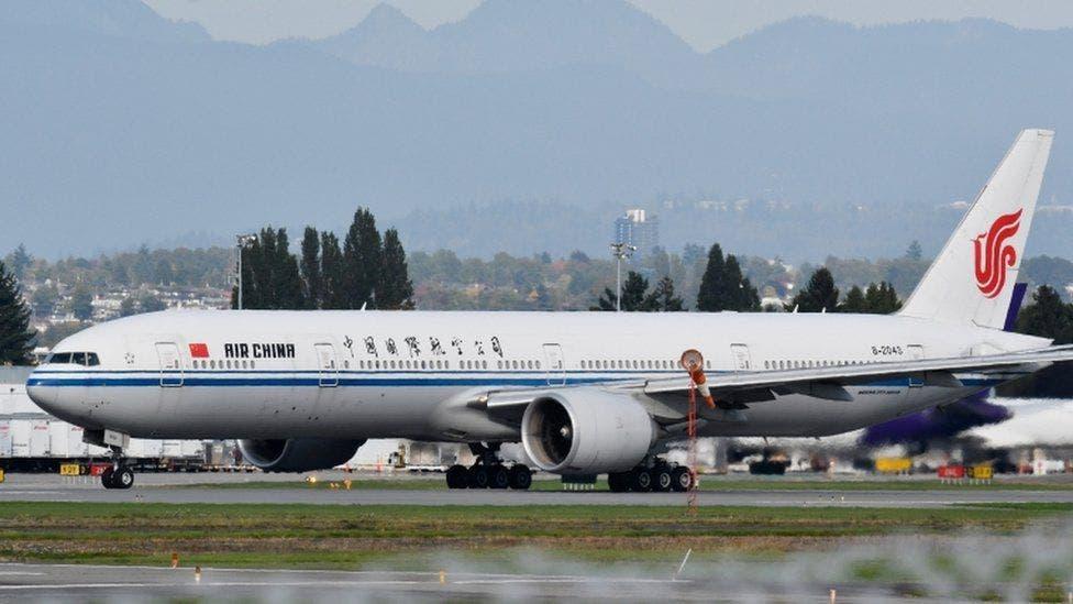 الطائرة التي يعتقد أنها أقلت منغ من كندا في طريقها إلى الصين