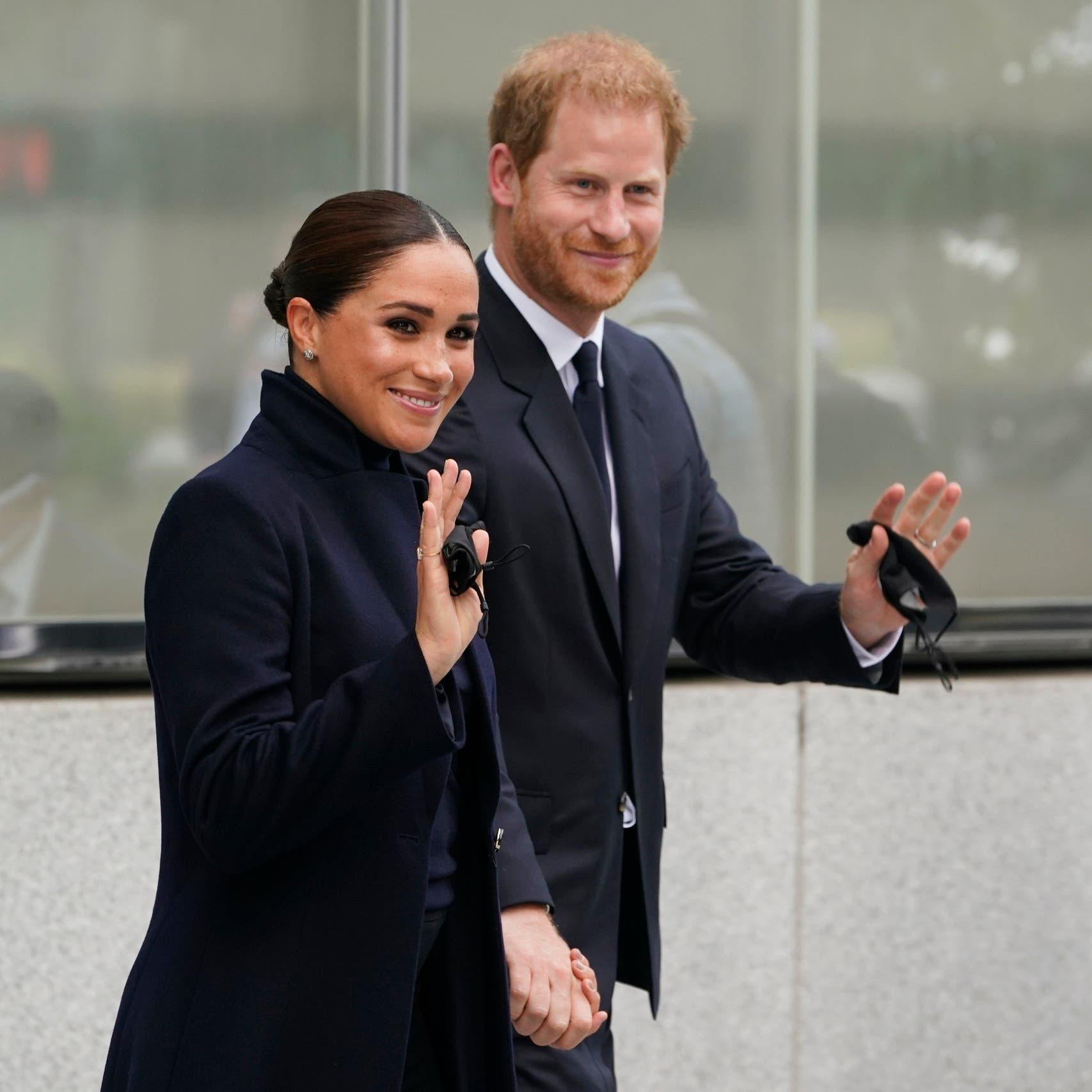 الأمير البريطاني هاري وزوجته ميغان يلتقيان مع غوتيريش