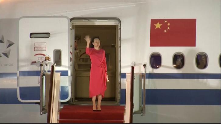 مدیر شرکت «هواوی» پس از آزادی به چین بازگشت