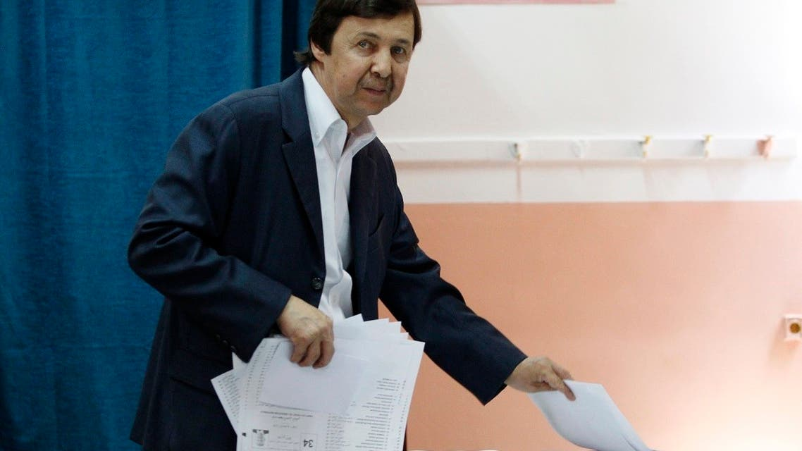 In this Thursday, May 4, 2017 file photo, Said Bouteflika, the brother of Algerian President Abdelaziz Bouteflika, takes ballots before voting in Algiers. (AP)