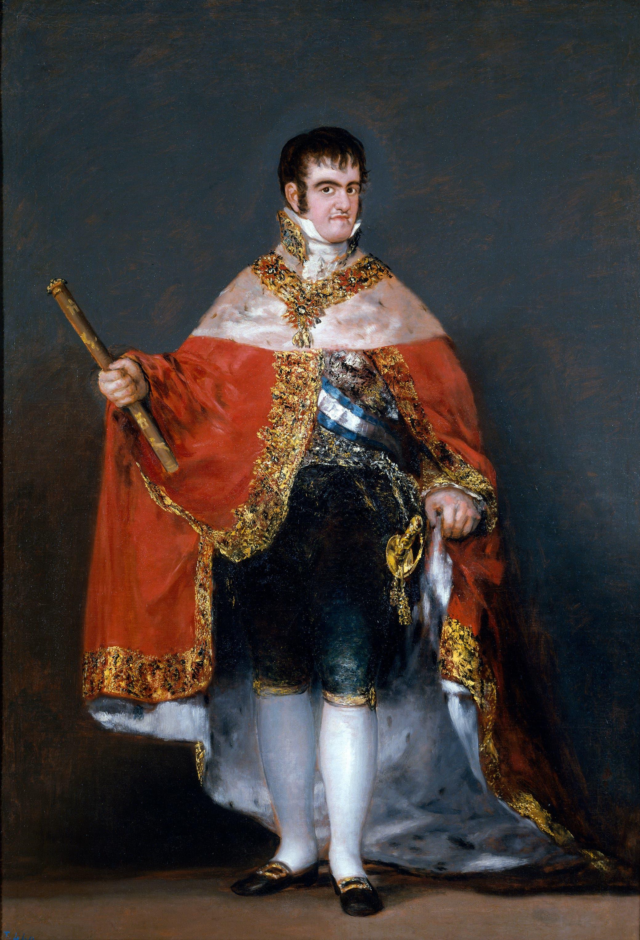 لوحة تجسد الملك الإسباني فرديناند السابع