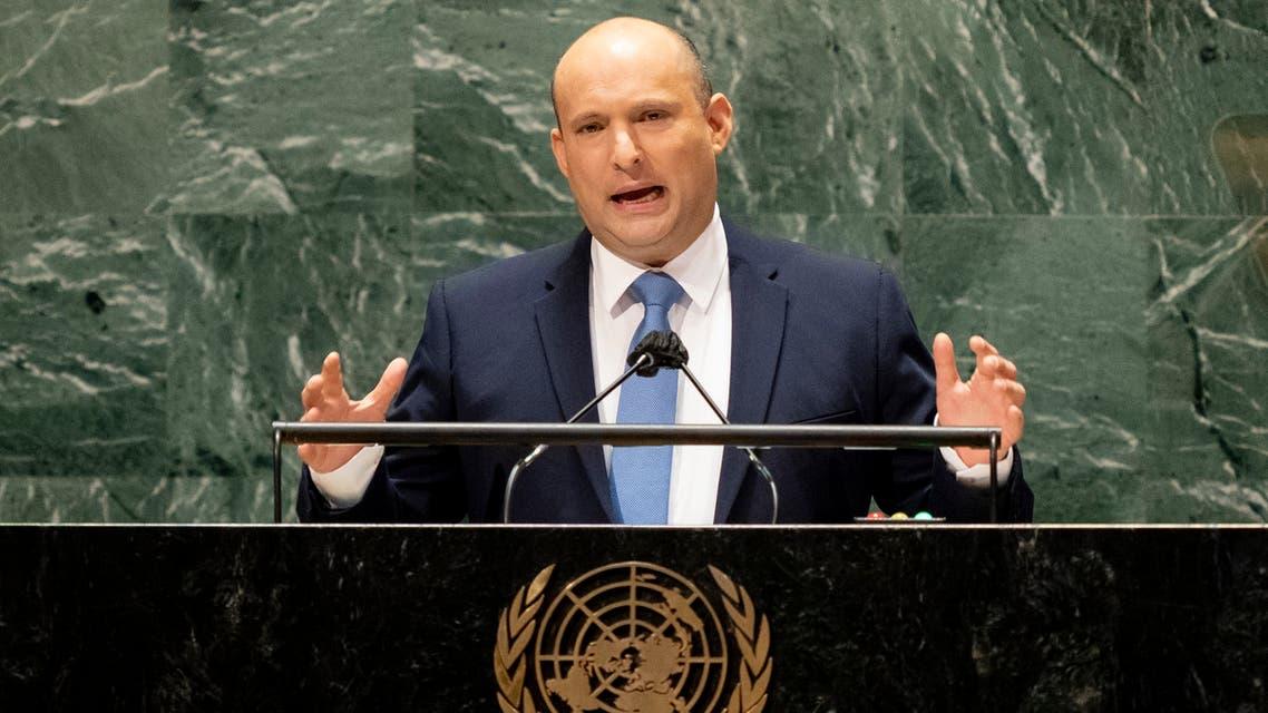 نفتالي بينيت متحدثا في الأمم المتحدة (27 سبتمبر 2021- فرانس برس))