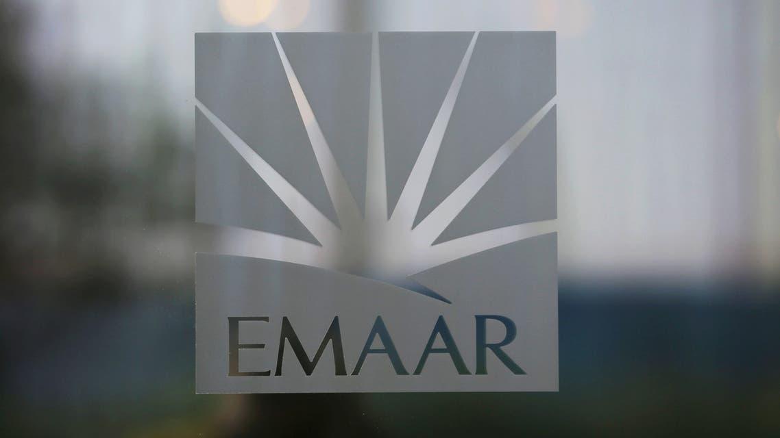 The corporate logo of EMAAR is seen in Dubai, United Arab Emirates, December 28, 2018. Picture taken December 28, 2018. (Reuters)