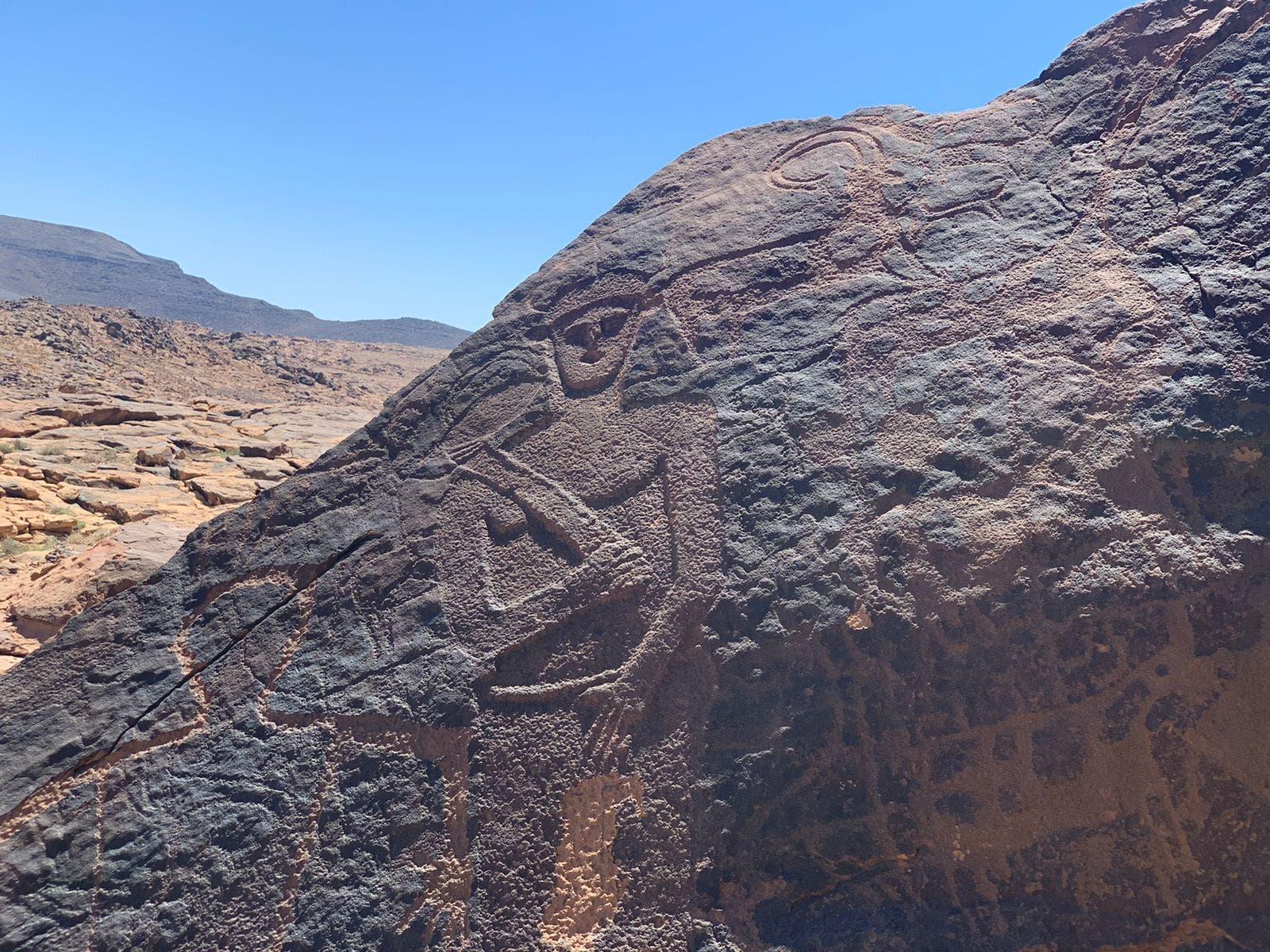 جانب من الفنون الصخرية في تبوك