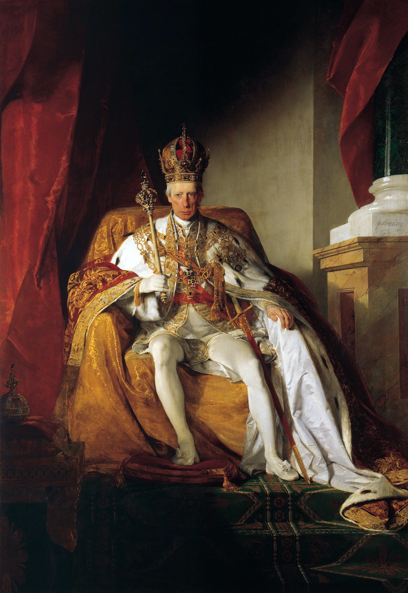 لوحة تجسد الإمبراطور النمساوي فرانسيس الثاني