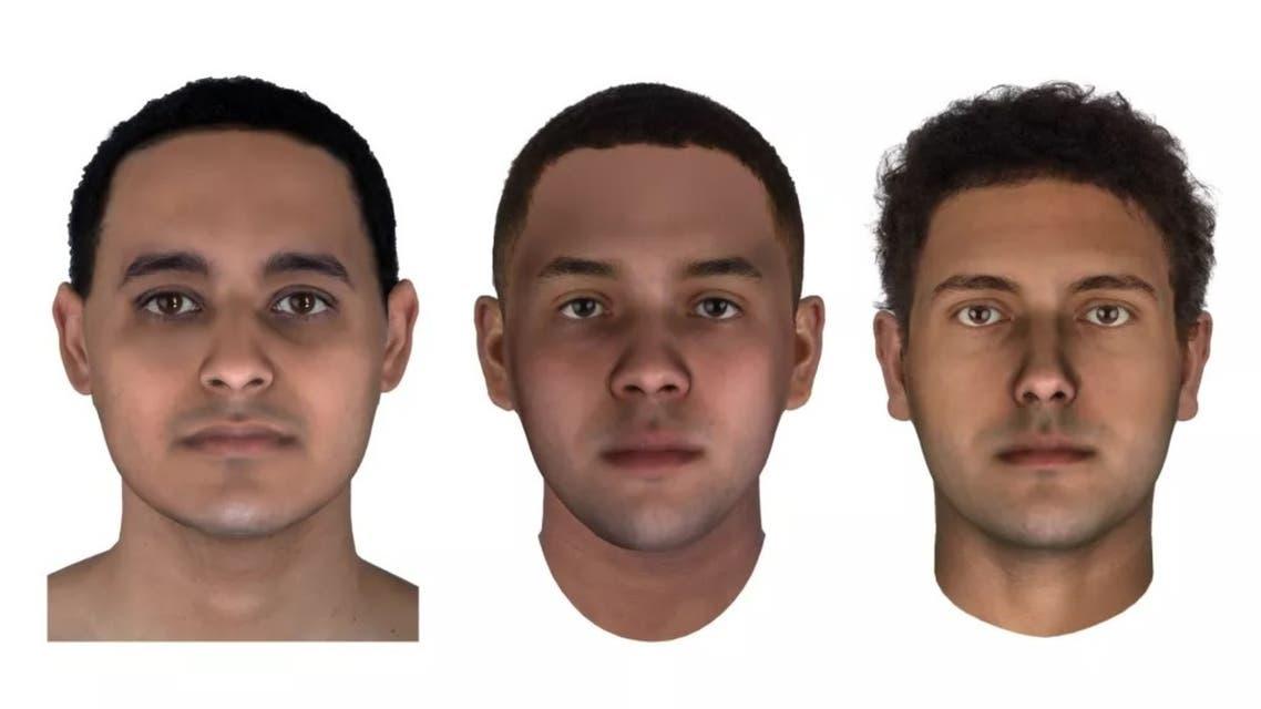 Forensic reconstruction of the mummies JK2911, JK2134 and JK2888. (Image credit Parabon NanoLabs)
