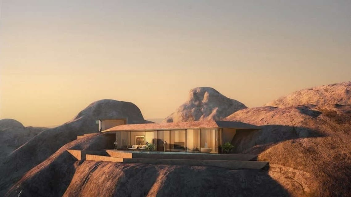 Developers behind Saudi Arabia's ambitious Red Sea Project has revealed design plans for a new mountain resort named Desert Rock. (Supplied)