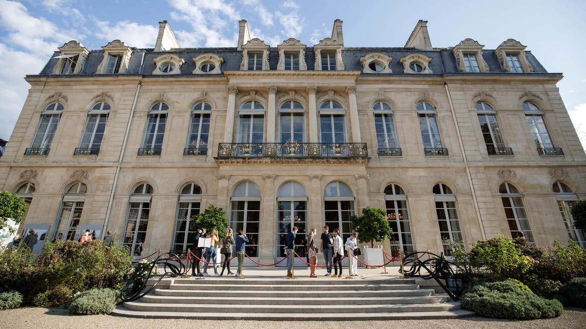 People visit the Elysee Palace in Paris, as part of the 38th edition of the European Heritage days on September 18, 2021.
