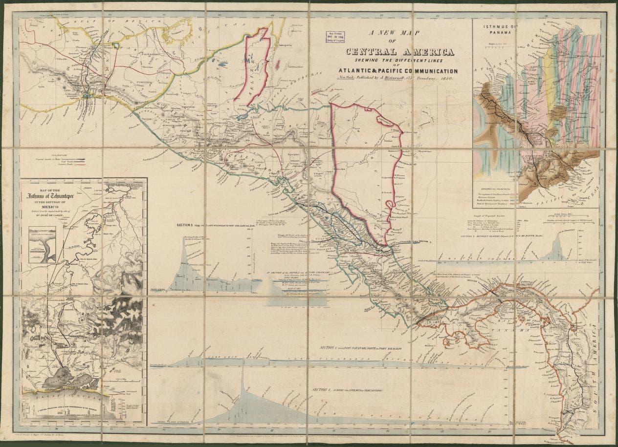 خريطة لوسط القارة الأميركية