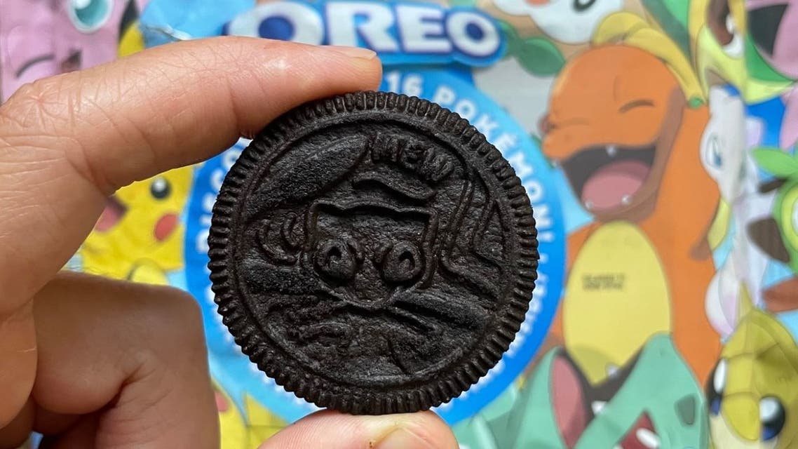 Oreo cookie with a Pokemon character. (Screengrab)