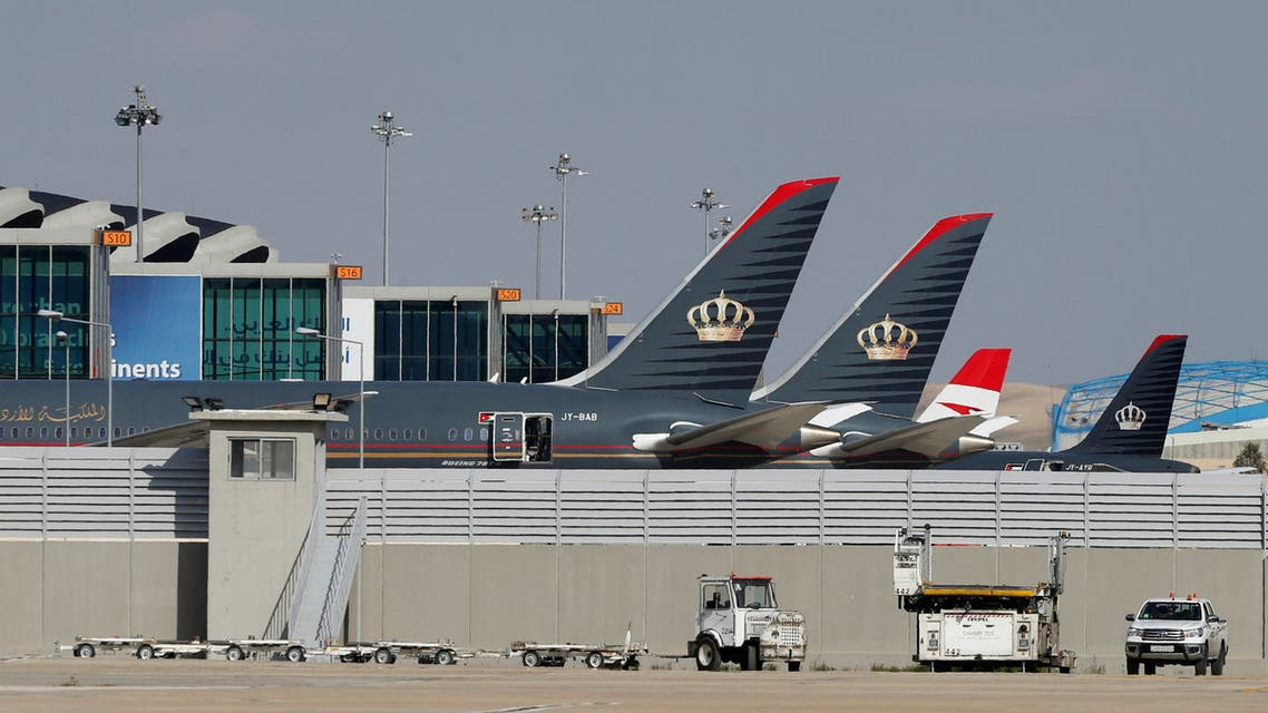 Planes that belong to the Royal Jordanian Airlines and other companies are parked at the Queen Alia International Airport in Amman, Jordan February 23, 2020. (File photo: Reuters)