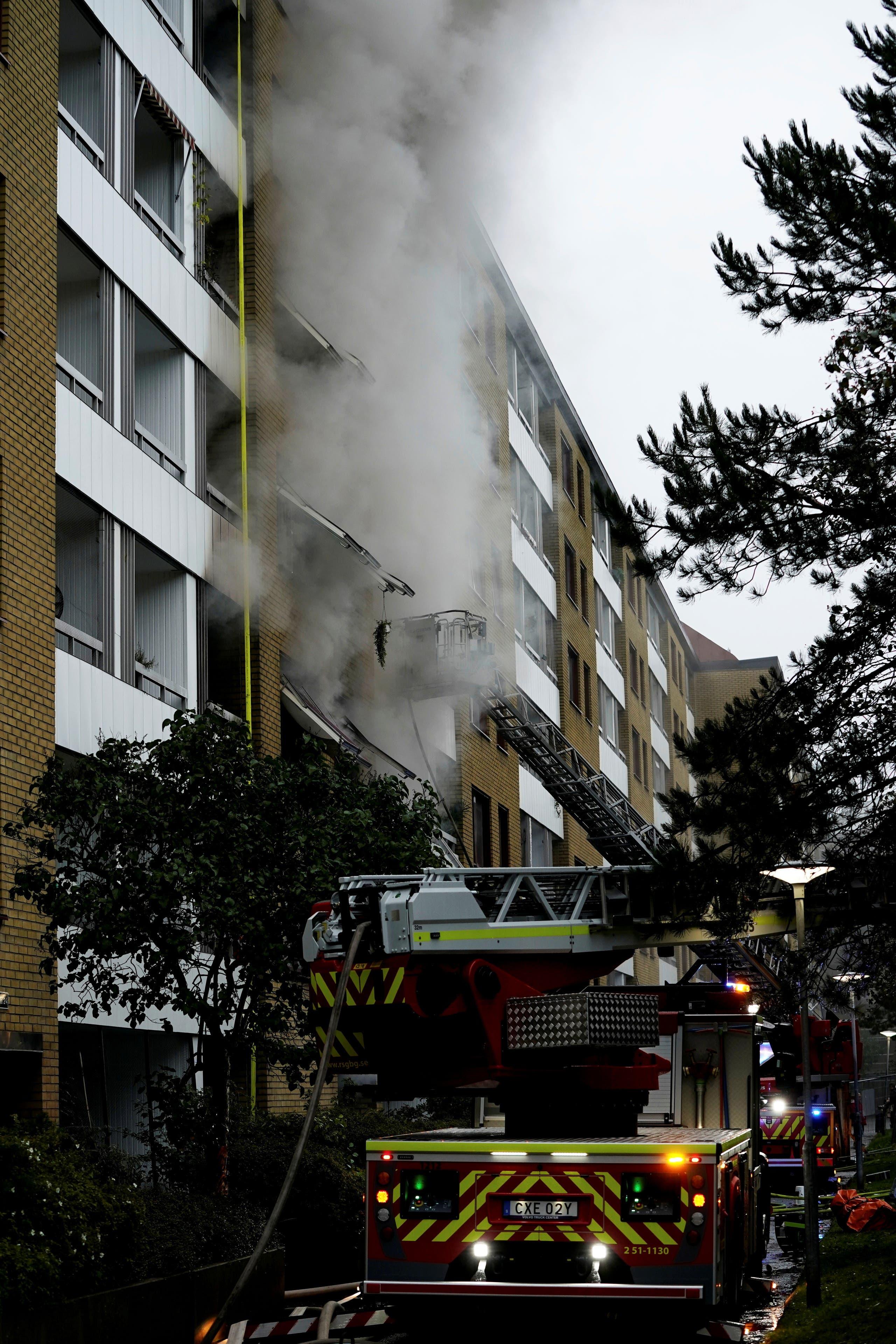 المبنى الذي هزه الانفجار