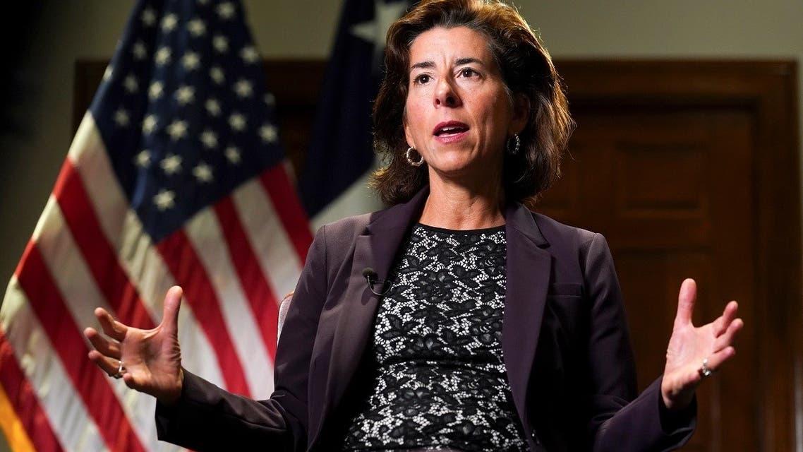 US Commerce Secretary Gina Raimondo speaks to Reuters, Sept. 23, 2021. (Reuters)