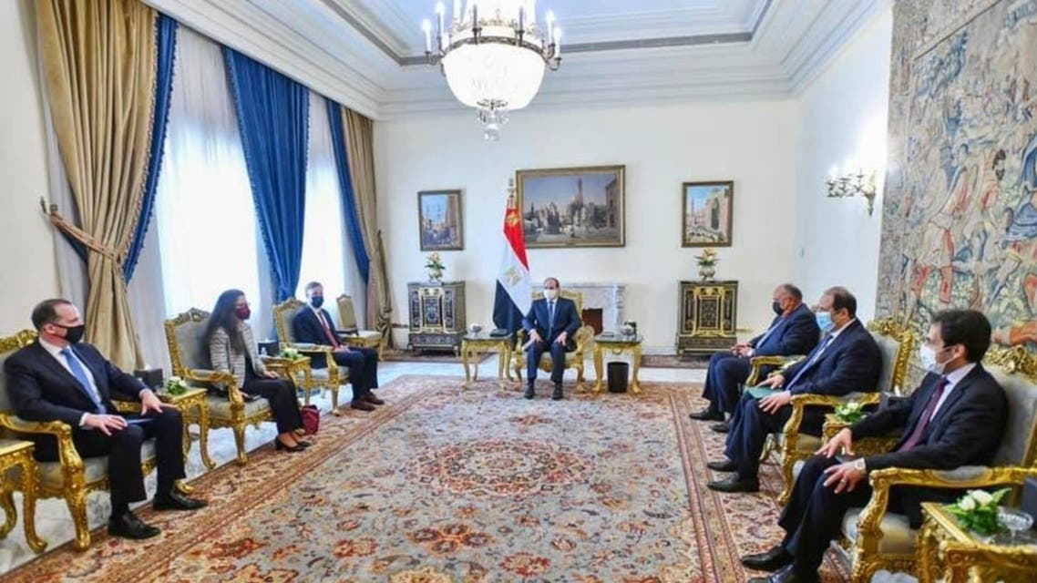 Egypt's president meets with US National Security Advisor Jake Sullivan. (Supplied)