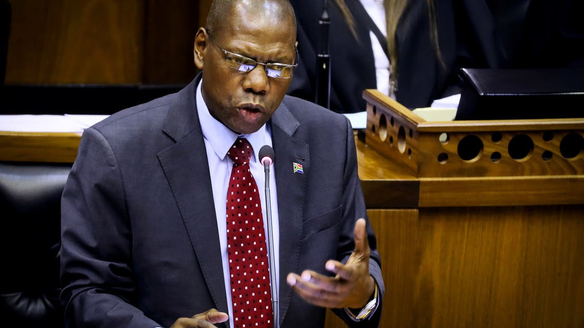 South African former Health Minister Dr Zweli Mkhize confirms the first case of Coronavirus in South Africa at Parliament in Cape Town, South Africa, March 5, 2020. (File photo: Reuters)
