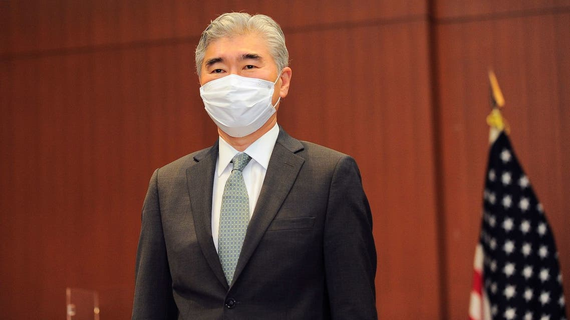 Sung Kim, U.S. Special Envoy for North Korea, poses ahead of a trilateral meeting between Japan, U.S., and South Korea, to discuss North Korea, in Tokyo, Japan, September 14, 2021. David Mareuil/Pool via REUTERS