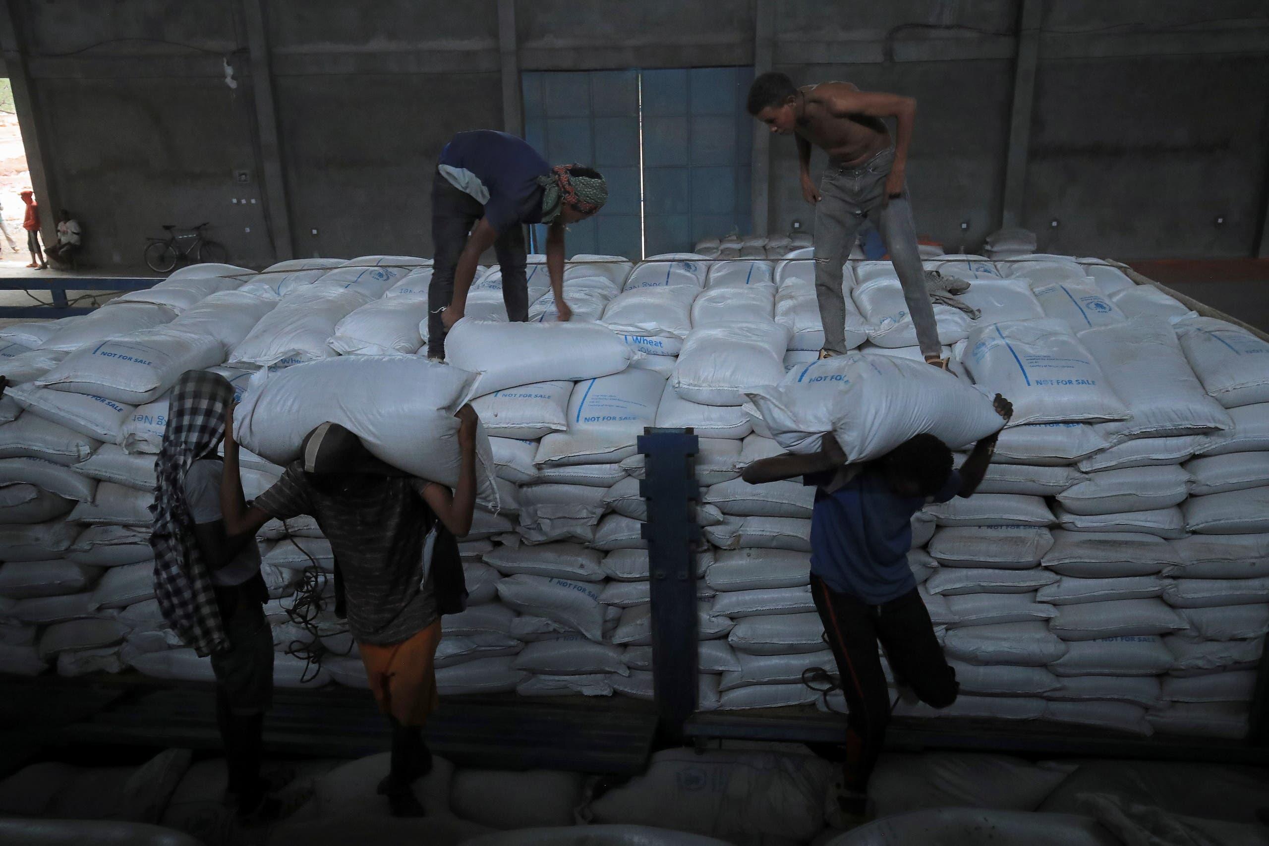 مساعدات غذائية لسكان تيغراي