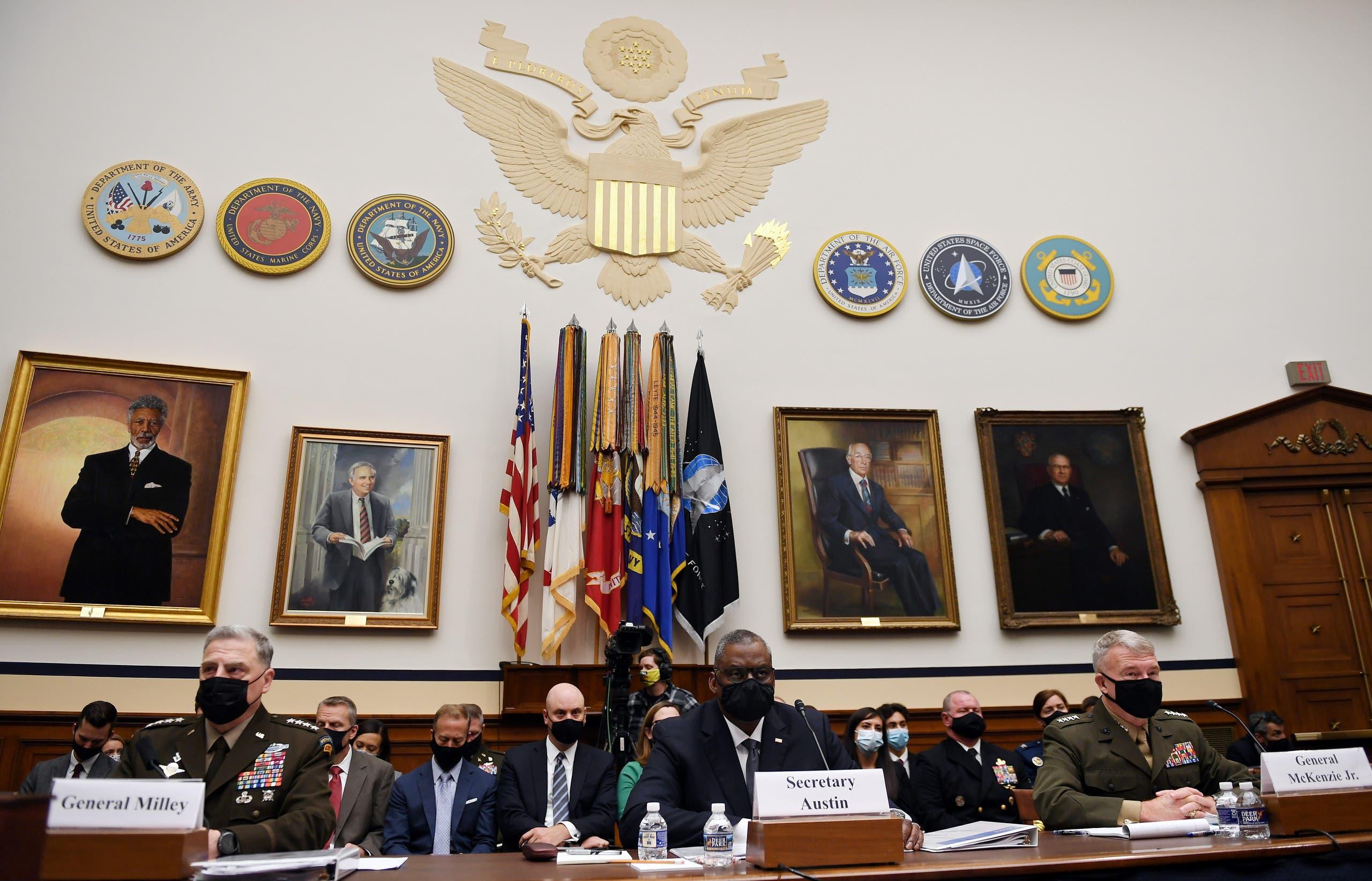 قادة البنتاغون أمام الكونغرس