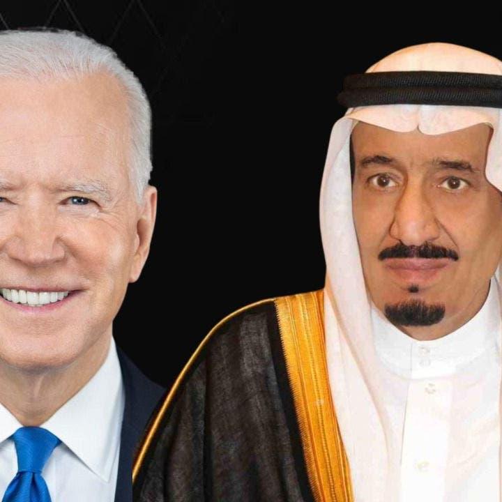 بايدن للملك سلمان: علاقاتنا تشكل حجر زاوية لأمن المنطقة