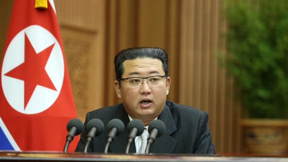 This picture taken on September 29, 2021 and released from North Korea's official Korean Central News Agency (KCNA) on September 30 shows North Korean leader Kim Jong Un. (AFP)