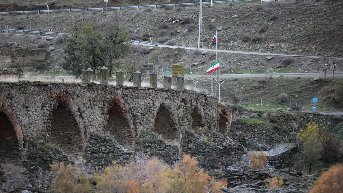 A view shows the ancient Khodaafarin Bridge near the border with Iran in the area. (Reuters)