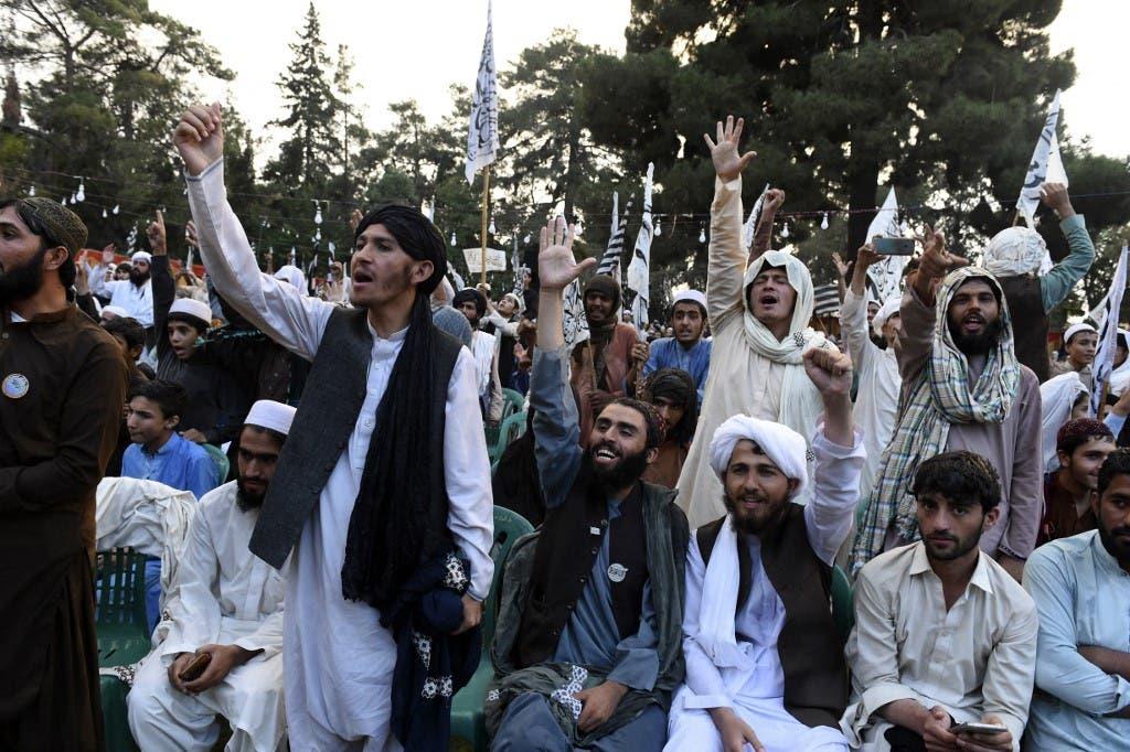 ناشطون مؤيدون لحركة طالبان في باكستان - أرشيفية من فرانس برس