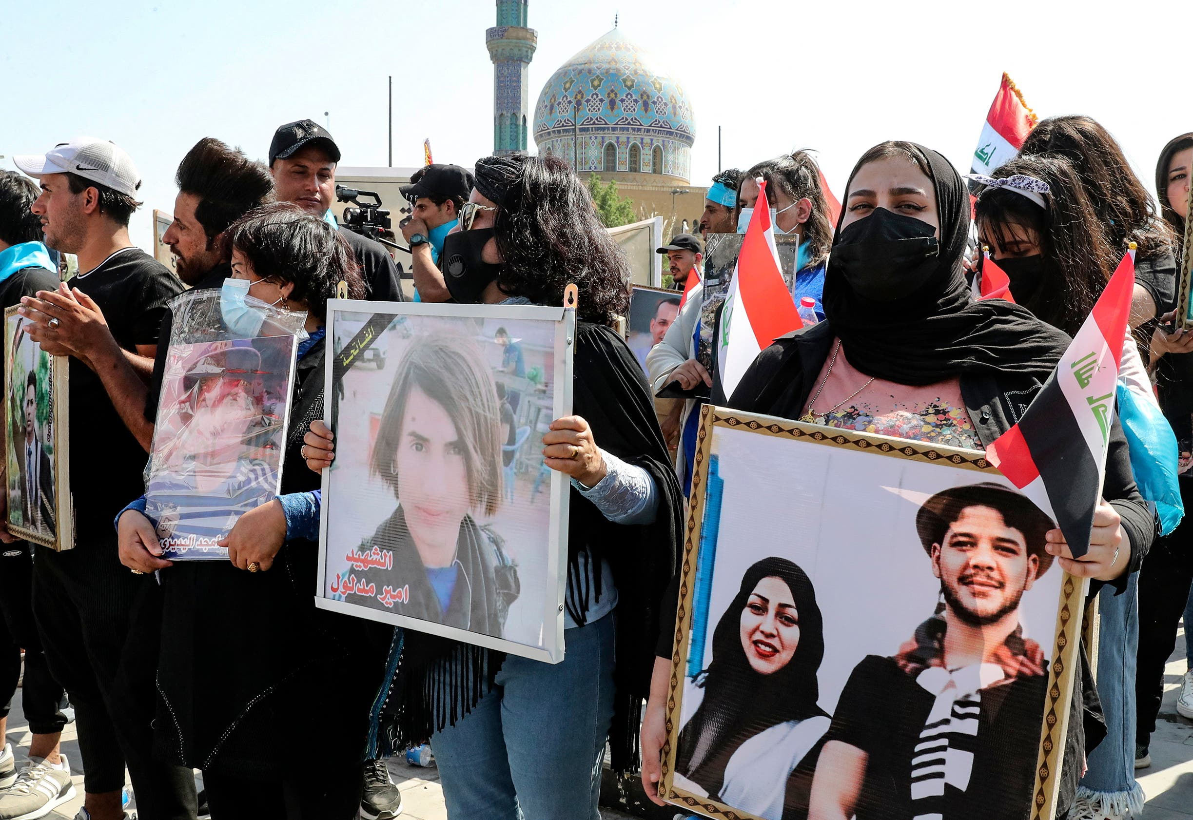 تظاهرة في بغداد(فرانس برس)