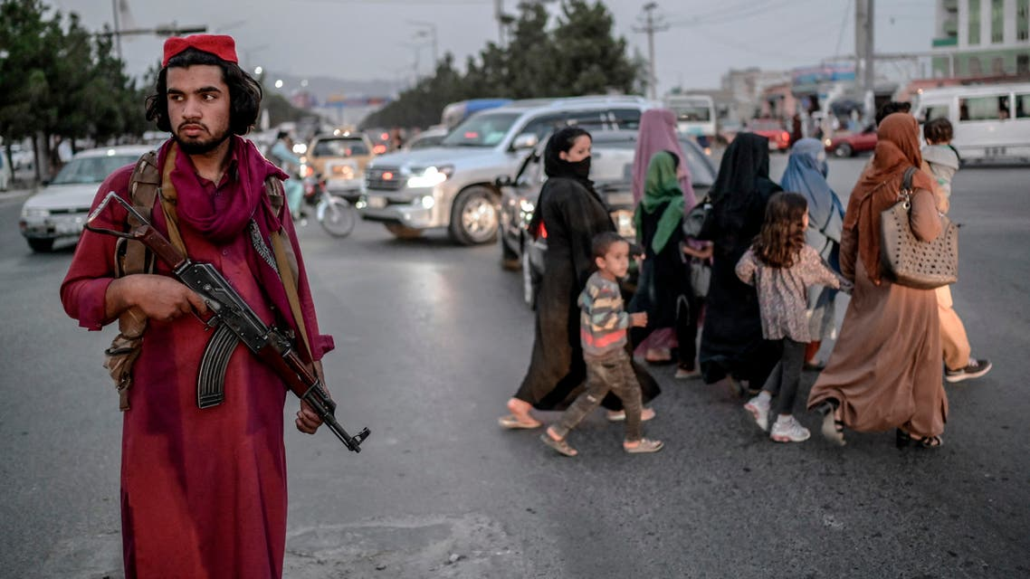 عنصر طالبان في  أحد شوارع كابل (أرشيفية- فرانس برس)