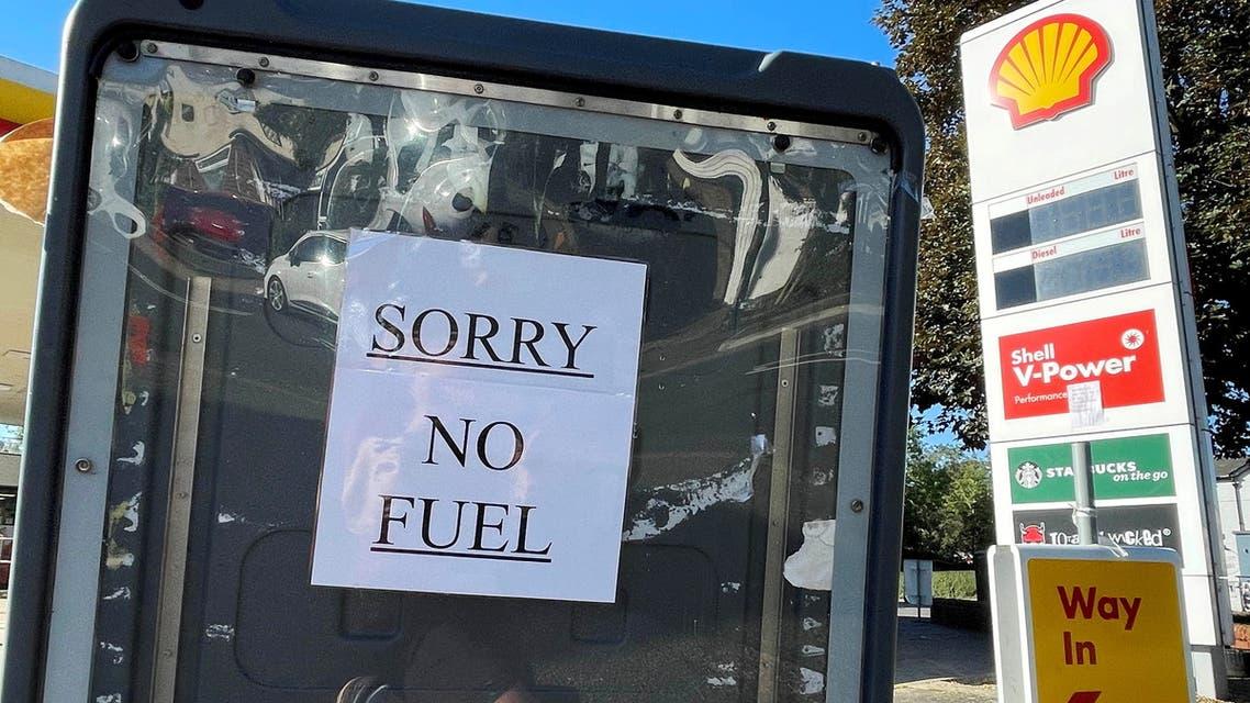 محطات خالية من الوقود في بريطانيا (رويترز)