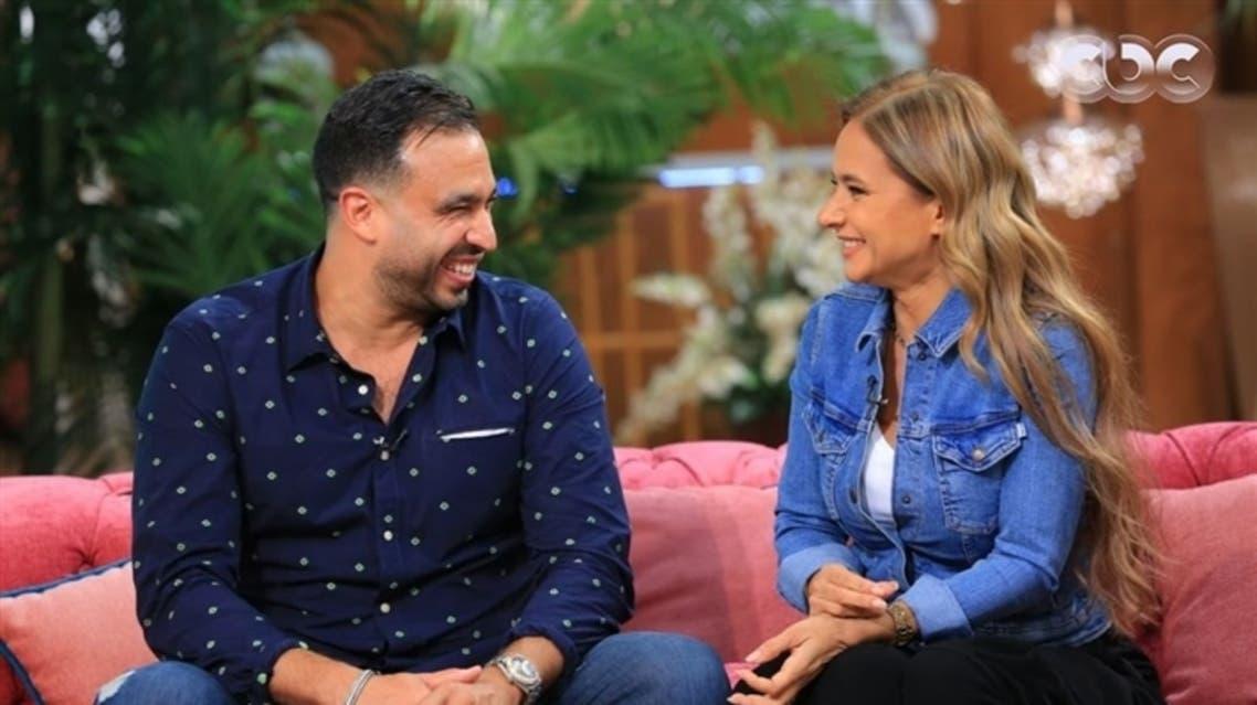 نيللي كريم وهشام عاشور في أول ظهور تلفزيوني بعد زواجهما