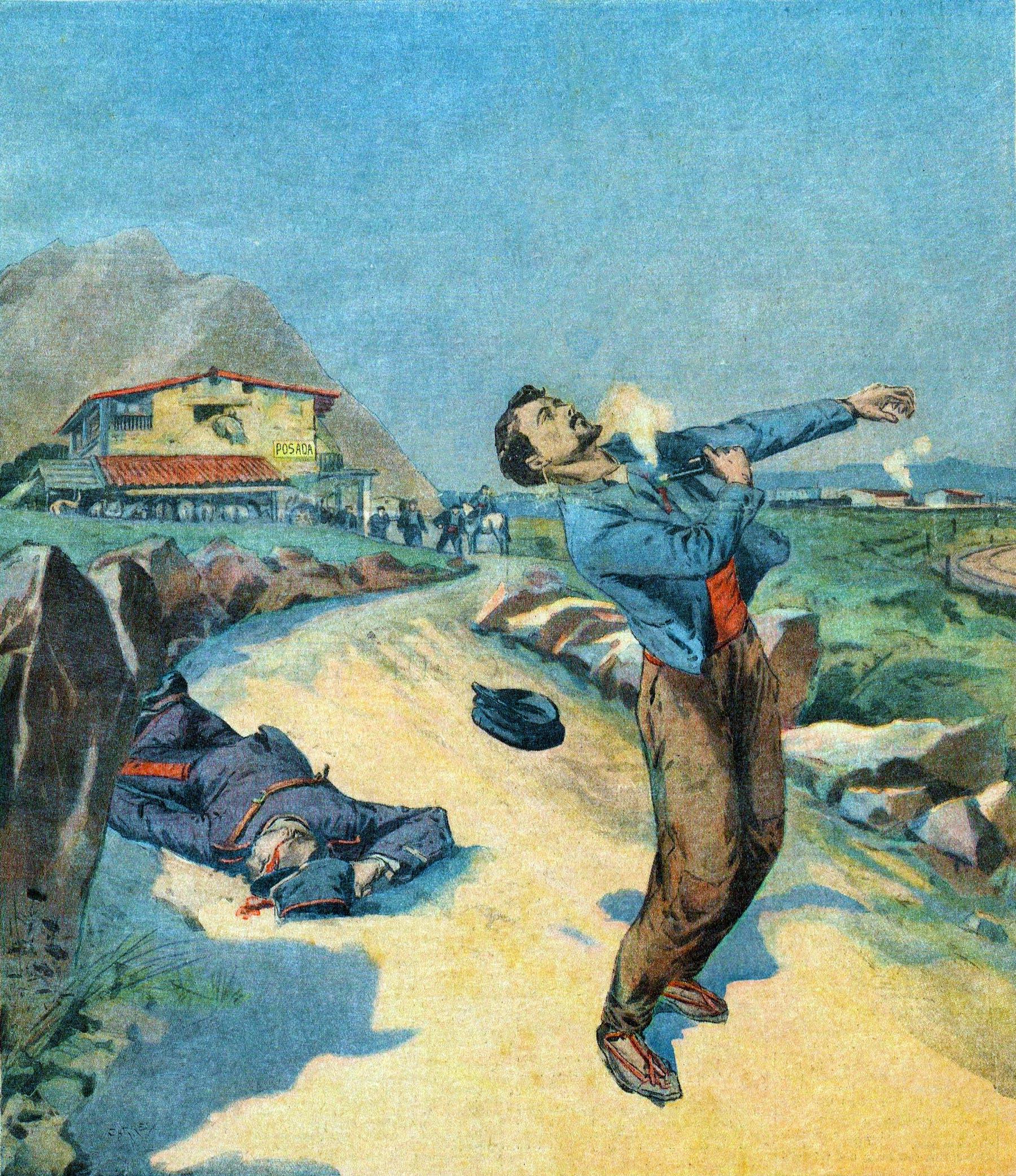 لوحة تجسد حادثة انتحار موريل