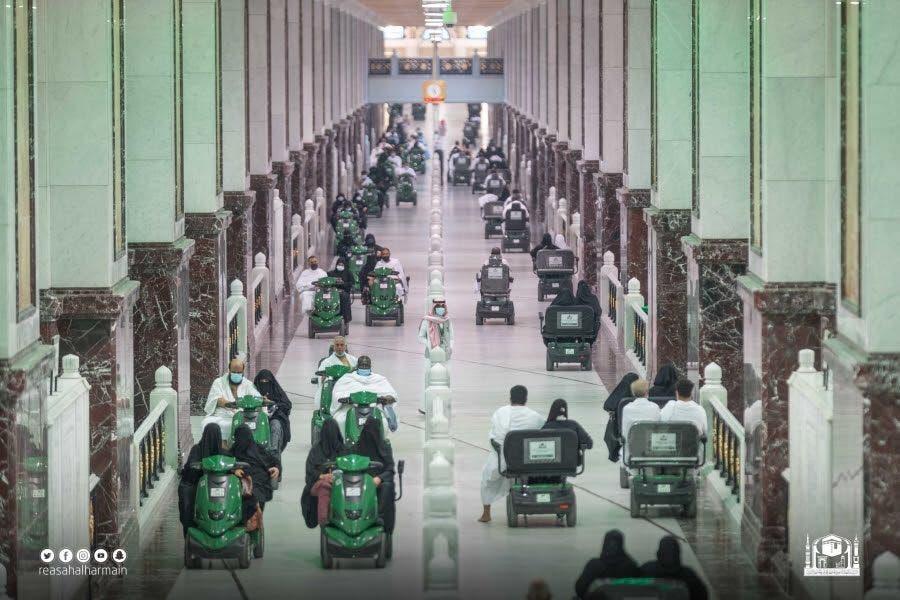 تطور العمل في عربات المسجد الحرام