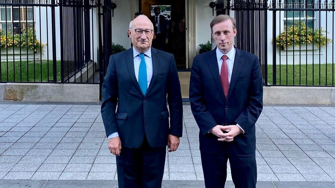French Ambassador Philippe Etienne meets with NSA Jake Sullivan at the White House, Sept. 30, 2021. (Twitter)