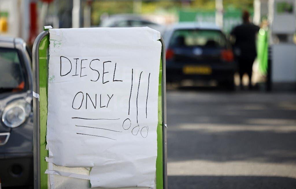 من أزمة الوقود في لندن